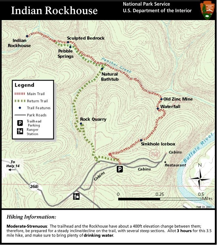 Indian Rock House Trail Map