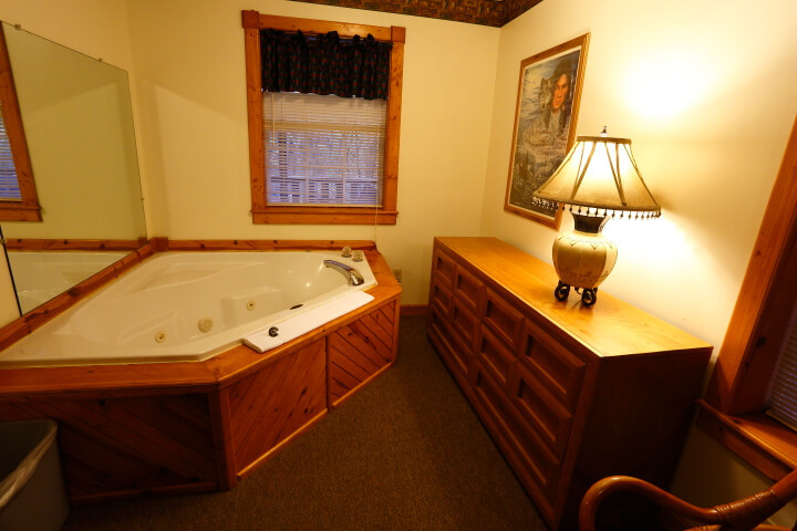 Master bathroom with jacuzzi tub